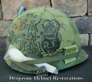 Vietnam M-1 Helmet And Westinghouse Liner Mitchell Cover The Fink In Nam