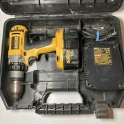 Dewalt 18v 1/2 Cordless Drill Driver Dc987 Heavy Duty Battery + Charger Tested