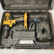 Dewalt Dc720 18v Cordless 1/2 Drill/driver With Case+charger Tested No Battery