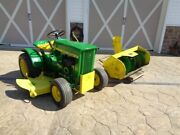 1967 John Deere 112 With Hydro Lift. 48 Mower And Snow Thrower. Show Tractor