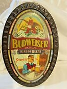 Vintage Budweiser King Of Beers Served By The Pitcher Signage Beer Sign
