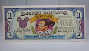 1993 1 Disney Dollar Uncirculated Mickey Mouse 65th Anniversary Series Aa -mint