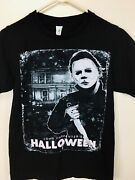Vtg 1990's Scl Michael Myers Knife Scary Halloween Horror Classic Movie T-shirt