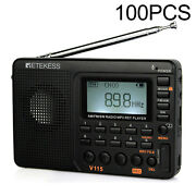 100v115 Portable Fm/am/sw Radio Digital Rechargeable Mp3 Player Drive-in Church