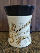 Symphony Music Scentsy Full Size Wax Warmer Burner Retired Staff W/ Music Notes