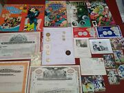 Estate Coin Lot Retail Value 75 In Just Coins Old Comics Stocks Photos.....