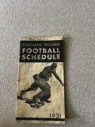 Chicago Tribune Football Schedule College ,bears And Chicago High Schools 1931 R