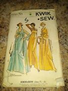 Kwik Sew 721 Sewing Pattern Nightgown And Peignoir Robe Szs S-xl Uc Vtg Htf