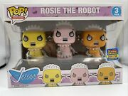 Sdcc 2017 Rosie The Robot 3pk Funko Pop Le 2000 W/ Protector