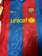 Nike Barcelona Actual Use Uniform No.22 Autographed With Certificate Soccer Used