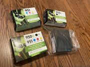 New Hp Multi Bundle Pack - 950xl 2 951 2 + Partial Used Ink Cartridges Lot