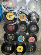 Lot Of 58 50s-80s Rock/country/pop Mix Records 7 Single 45rpm Jukebox W/ Sleeve