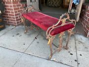 Antique Wrought Iron Bench Mission Spanish Style