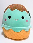 Squishmallows Kellytoy Official Foods 16 Maya The Ice Cream Cone Plush Doll Toy