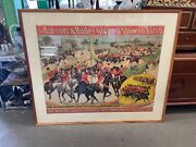 Antique Barnum And Bailey Circus Poster Greatest Show On Earth