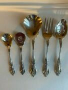 Oneida Community Brahms Stainless 5pc Serving Set Spoons Meat Sugar Jelly
