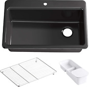 Riverby 33 In. X 22 In. Top-mount Single-bowl Kitchen Sink With Single Faucet Ho
