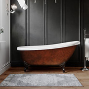 Acrylic 61 Inch Faux Copper Clawfoot Bathtub Without Faucet Holes-copper Maries