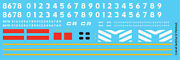 N Scale - Conrail Locomotive Switcher Lv Patch Decal