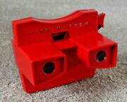 Vintage Viewmaster Red Model G 3d Stereo Viewer 1970's Rare Working  K021