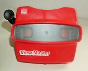 Tyco Viewmaster Model L Viewer Red 1980's Rare Black Handle H323