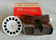 Mint Vintage Viewmaster Model E 3d Stereo Viewer Boxed 1950's With Reel K130
