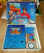 Viewmaster 3d Trivia Quiz Game Inc. A Blue Model G Viewer 1984 Toy Rare  G248