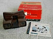 Vintage Viewmaster Model E 3d Viewer Boxed C. 1950's Rare Made In Belgium  J791
