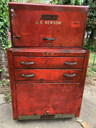 Rare Vintage Snap-on Tool Box Cabinet W/ Removable Toolbox