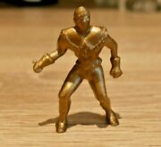Vintage Captain Video Gold Space Man Figure 1950and039s Tv Very Rare Lido I305