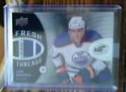 2014/15 Leon Draisaitl Rookie Ice Black Fresh Threads Patch Card Rare And039d 2/5.