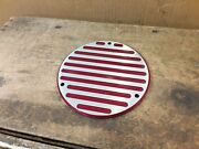 Harley Davidson Primary Clutch Derby Inspection Cover Evo Dyna Fatboy 3 Hole Red