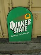 Large 36 X 24 Double Sided Quaker State Oil Metal Sign  B4447