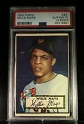 1952 Topps Willie Mays 261 Psa Authentic