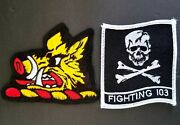 Vfa-103 Jolly Rogers Strike Fighter Squadron F/a-18 Set Patches