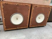 Pair Of Hartley 224hs 24 Woofers Alnico Extremely Rare And Hard To Find