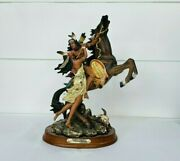 Vintage N. American Collection Native American Horse Statue Figurine Sculpture