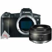 Canon Eos R Mirrorless Digital Camera Body With Canon Rf 50mm F/1.8 Stm Lens