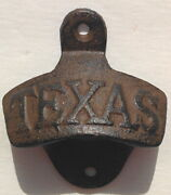75pc Lot Texas Bottle Openers Cast Iron Wall Mount Lone Star State Man Cave Beer