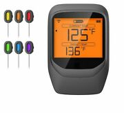 Remote Wireless Thermometer Dual Probe For Bbq Smoker Grill Oven Meat With Time