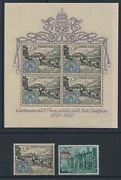 1952 Vatican, Stamps New, Year Complete 2 Values, 1 Sheet Of Stamps Carr