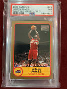 Lebron James 2003 Topps Bazooka Gold Red Jersey Rookie Card Rc Psa 7 Nm