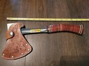 Vintage Estwing No. 1 Hatchet With Original Leather Sheath - Made In Usa
