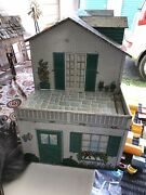 1950s Marx Vintage Litho Tin Sears And Roebuck Two Story Doll House.