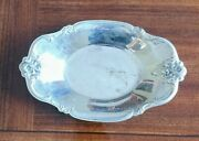 International Silver Company Silverplate Tray Nut/candy Dish 448 Orleans Roses