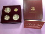 1996 Us Olympic Coins Of The Atlanta Games 4 Coin Proof Set W/gold Coin B42.c