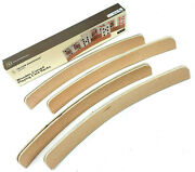 Wooden Playing Card Rack Curved Yellow Mountain Card Holder Set Of 4