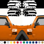 Set Of 2 Coqui Taino Puerto Rico Flag Decal Left Right Fender Rican Car Truck