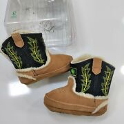 John Deere Boots Johnny Poppers Size 3 Infant Baby Shoes New