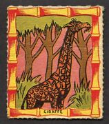 1950's Novel Candy And Toy Card R722-1 Jungle King Story 4 Giraffe